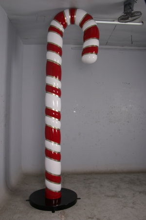 Candy Cane 12ft JR 150010 Red, White & Gold