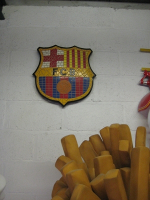 Barcelona F.C. Mosaic Football Sign (JR 2655)