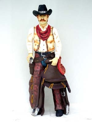 Cowboy with Saddle 6ft (JR 372)