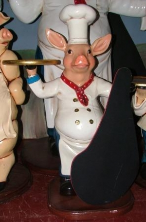 Pig Chef with Black-board 3ft (JR 2191)