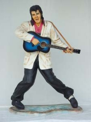 Elvis style Singer with Guitar Life-size (JR 1131)