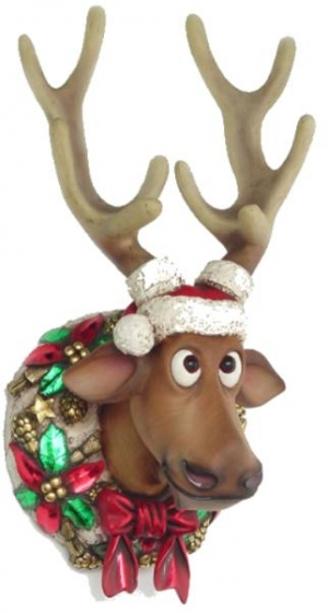 funny xmas reindeer head jr 2261 the jolly roger life size 3d