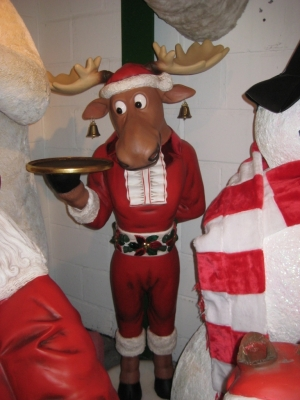 Funny Christmas Moose Butler (JR 2259)