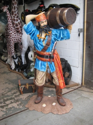 Chinese Pirate with Barrel 6ft (JR 2490)