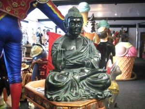 Buddha Sitting Green 2ft (JR HBUD2)