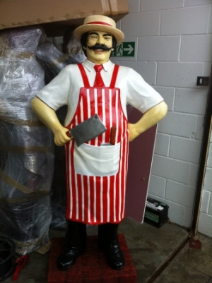 Butcher 6ft- Red and White (JR 100117)