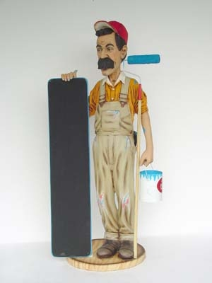 Painter/ Decorator Figure with Menu-board (JR 1886)