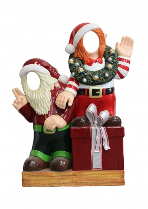Crazy Elves with gifts Photo Op (JR S-168)