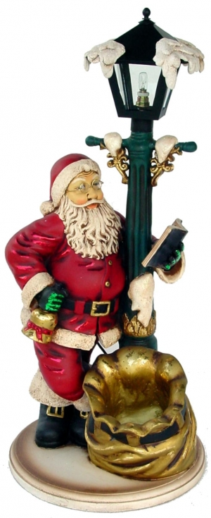 Santa with Lamp post 2ft (JR 1977)