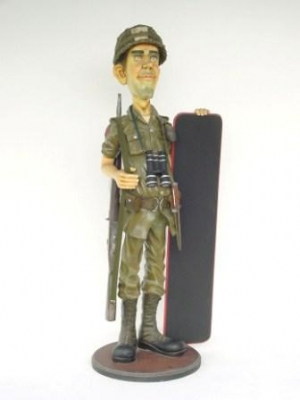 Soldier with Menu Board - British 5.5ft (JR 1885)