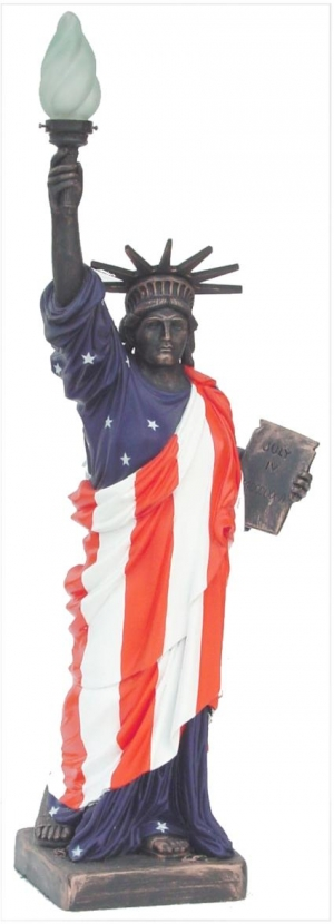 Statue of Liberty with American Flag (JR 357AF)