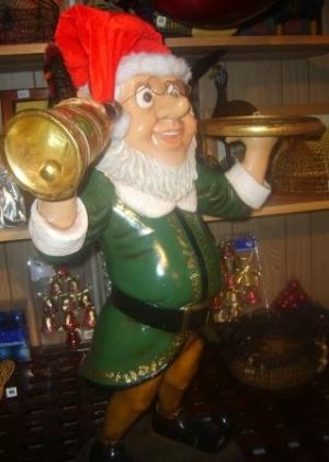 Elf Butler with Bell & Tray 3ft (JR 2236)