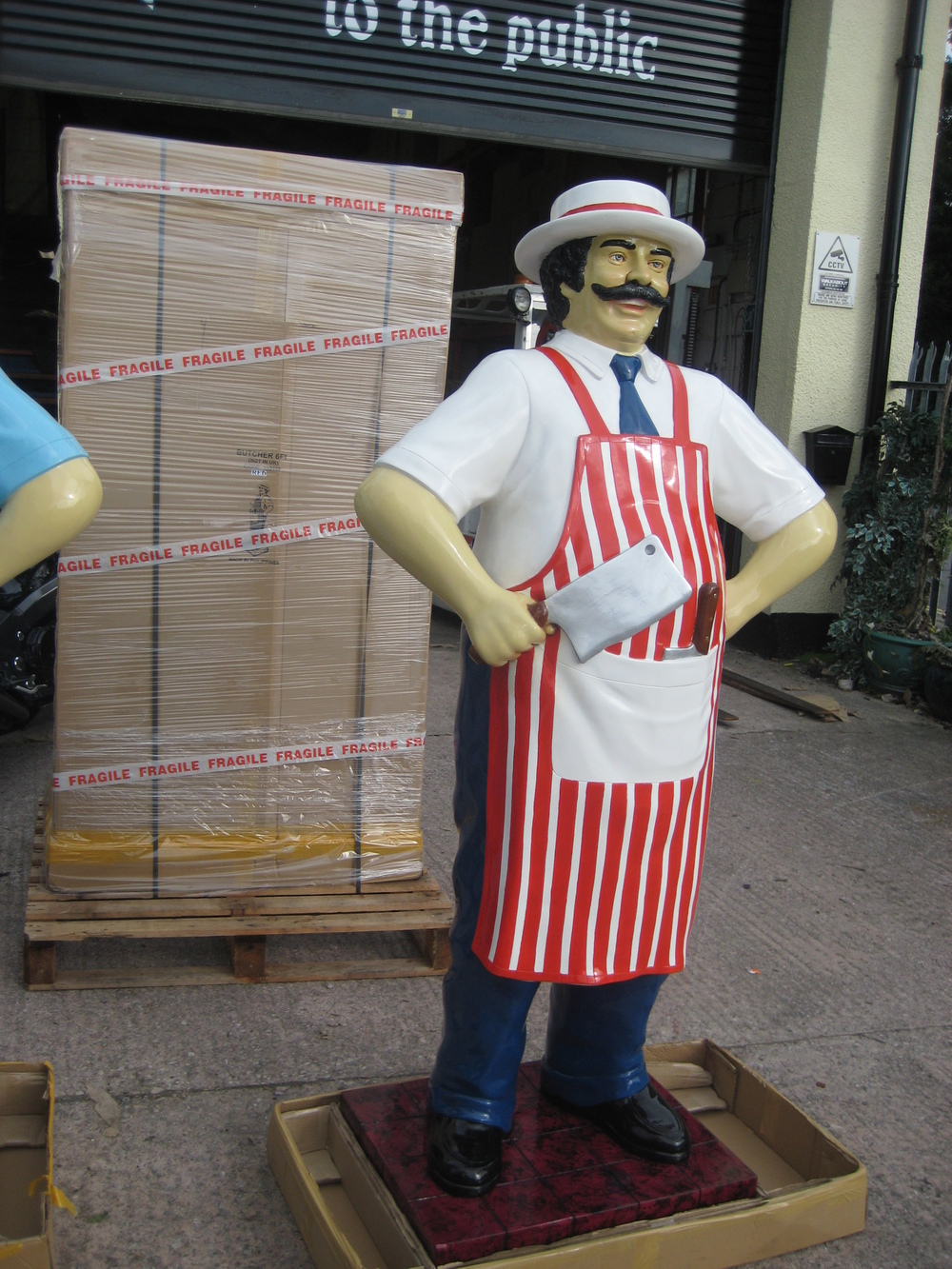 Butchers Kitchen 1 For 1 : Butcher 6ft- Red and White (JR 100117) - The Jolly Roger - Life Size 3D Models - Resin Figures