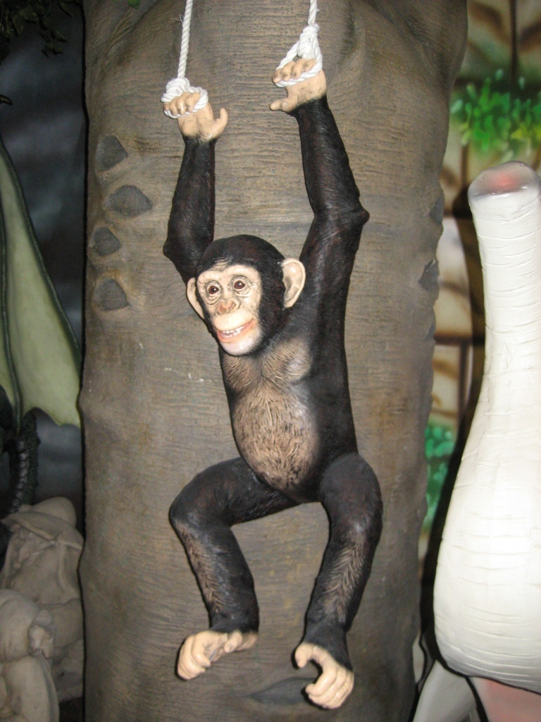 Chimpanzee Hanging (JR 120040) - The Jolly Roger - Life Size 3D