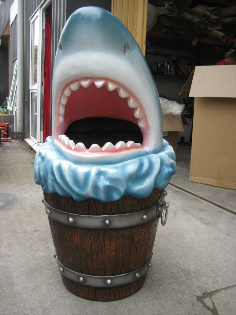 Shark Head Rubbish Bin Jr 2724 The Jolly Roger Life