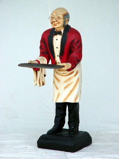 Old Man Waiter 3ft Jr 326 The Jolly Roger Life Size