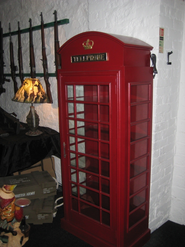 Telephone Box Cabinet Jr Foteb The Jolly Roger Life Size 3d