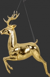 Flying Reindeer- Gold Leaf (JR 120066GL)