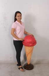 Standing Ice Cream Small - Strawberry 3ft (JR 130017s) - Thumbnail 03