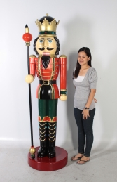 Nutcracker King with Sceptre 6.5ft (JR CN0026/140005)