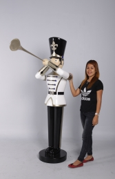 Toy Soldier with Trumpet 6ft - white, gold & black (JR 140007WGB)