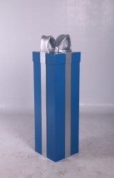 JR 150240 PRESENT BLUE WITH SILVER RIBBON