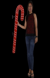 CANDY CANE 4FT HANGING RED WITH WHITE STRIPE - JR 180044