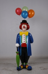 Clown with umbrella and balloons JR 180169