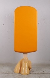 JR 180244O ICE CREAM POPSICLE ON BASE ORANGE 6FT