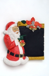 Santa Claus standing with Board - 2ft (JR PB-08) - Thumbnail 02