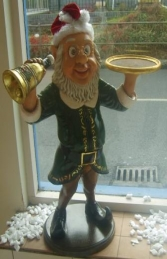 Elf Butler with Bell & Tray 3ft (JR 2236) - Thumbnail 03