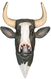 Bull Head- Black and White (With Horns) (JR 2198BWH)