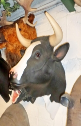 Bull Head- Black and White (With Horns) (JR 2198BWH) - Thumbnail 03