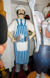 Butcher 6ft - Blue and White (JR 100117)