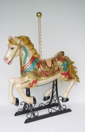 Carousel horse with metal base 4.5 ft - JR 2055