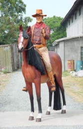 Cowboy on Horse Life-size (JR 2143)