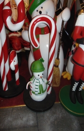 Candy Cane with Snowman mini (JR S-182) - Thumbnail 01
