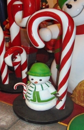 Candy Cane with Snowman mini (JR S-182) - Thumbnail 02