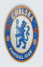 Chelsea F.C. Mosaic Football Sign (JR 2664)