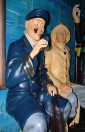 Seated Old Sea Captain life-size (JR OSC)