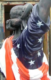 Statue of Liberty with American Flag (JR 357AF) - Thumbnail 03