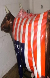 American Flag Cow life-size (JR 7013) - Thumbnail 02