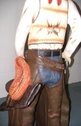 Cowboy with Saddle 6ft (JR 372) - Thumbnail 02