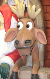 Santa and Funny Reindeer with Chimney (JR GD) - Thumbnail 02