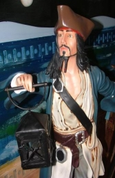 Jack Sparrow style Pirate on Mast, 4ft (JR ST9750)