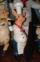 Pig Chef with Black-board 3ft (JR 2191) - Thumbnail 02