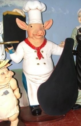 Pig Chef with Black-board 6ft (JR 2190) - Thumbnail 01