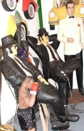 Blues Brothers seated life-size pair (JR 1525)