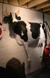Wall Mounted Cow Lifesize (JR 090044)