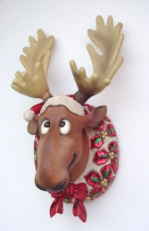 Funny Xmas Moose Head (JR 2260)